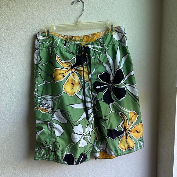 Billabong Hawaiian Swim Board Shorts 32 Floral